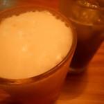 大岡山食堂 - 抹茶&キリンハートランド生ビール