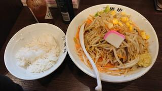 濃厚タンメン三男坊 - 辛タンメン+サービスライス