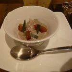 イル テアトリーノ ダ サローネ - 前菜2:蛸とクレマ ディ フンギ (2012.5)