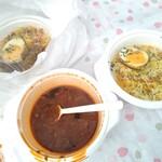 インドレストラン ムンタージ - チキンビリヤニ+ラッサムの全景