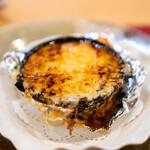 西洋料理 島 - 玉葱のグラタンスープ