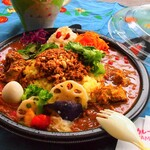 Cafe 豆うさぎ - 料理写真:テイクアウト 3種盛りカレー弁当