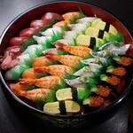寿司 和食 まえ田 - 中寿司盛り合わせ(5人前)