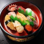 寿司 和食 まえ田 - 上寿司盛り合わせ