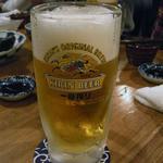 マゴコロ - 生ビール2杯目以降、ジョッキそのままなら420円なり~。