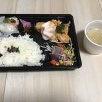 中国厨房 YUAN - 海老マヨ弁当+スープ