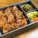 生肉専門店 焼肉 金次郎 - 極上カルビ弁当