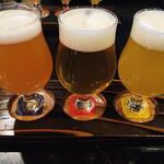 ブルドッグ 銀座 クラフトビール World Beer Pub&Foods - 只今のゲストクラフトビール3種 テイスティングセット