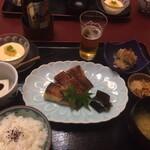 神楽坂 割烹 加賀 個室と会席接待の宴会処 - カレイの西京焼き御膳ランチ1200円
