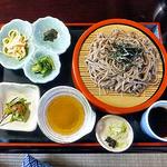 12957546 - 早春のつみ草と山菜の天ぷら定食(ざるそばに替えました)