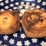ムッシュ・ピエール - クリームチーズカスタード(左)、アップルパイ