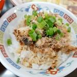 岡山らぁめん 麺屋照清 - ドッカンセットのミニバラ飯