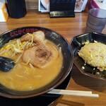 味噌っち 岩岡屋 - みそラーメン&半チャーハン
