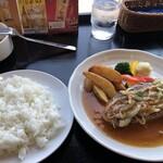 ダイニング キッチン どん - ポークジンジャーグリルセット 1210円税込