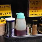 ミヤビ - カウンターの調味料