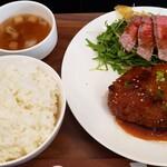 ヤマダデリ - ハンバーグ定食(和風おろし)