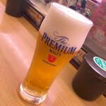 スシロー - ドリンク写真:生ビールグラス