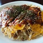 マウイの浜辺へ - 豆腐麺お好み焼き