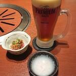 菅乃屋 - お通しと地ビール