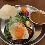 スパイスサロン バビルの塔 - チャーシューエッグ定食¥1100