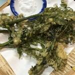入福 - たらの芽天ぷらです。