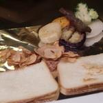 ビフテキのカワムラ - 焼野菜添え