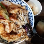 三國家 - バラ天丼(1000円)