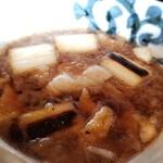 三國家 - こがし葱肉汁そば(一合)(800円) のつけ出汁