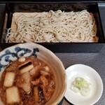 三國家 - こがし葱肉汁そば(一合)(800円)