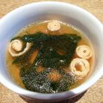 十勝屋 - セットのスープ
