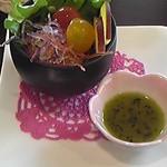 雅正庵 - ランチセット1250円のサラダです。