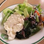 パイオニア牧場 - サラダの種類も豊富!