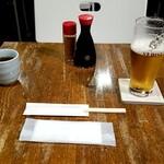 茜草壺 - おしぼり、箸、調味料
