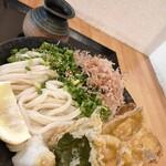 本格ぶっかけうどん 麺の里 - キス天ぶっかけ ¥960