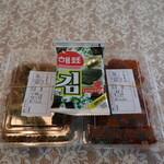 サム家 - チャプチェ、ヤンニョムチキン、サービスの韓国海苔