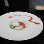 銀座 海老料理&和牛レストラン マダムシュリンプグレイス東京 - アイスケーキ、コーヒー