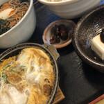 才谷屋 - かつ丼ミニ蕎麦セット