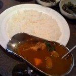 12971348 - インドカレー+本日の野菜