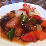 栄太呂ラーメン - セットの酢豚
