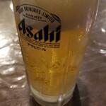 橙 - 生ビール(中ジョッキ)(600円)