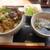 金の鈴 - 料理写真:鶏もも塩ダレ丼とミニうどんセット