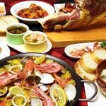 多国食彩ウフ - 料理写真:人気のスペイン料理コース。