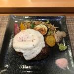 銀座和縁 - 目玉焼き(150円)をトッピング