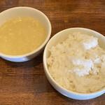 中華バルSAISAI。 - スープ、ライス