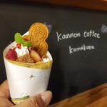 カンノンコーヒー カマクラ - いちごとティラミスショコラクレープ+鎌倉大仏ビスケット②