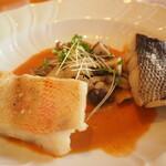 うさぎの小屋 - ランチコース 魚メイン