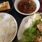 鳳来軒 - 料理写真:唐揚げ定食