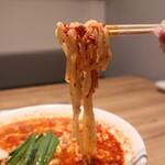 焼肉グレート - 川崎タンタンメンの麺
