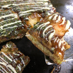 お好み焼き 文福 - 料理写真:最高傑作♡断面をご覧ください(๑>◡<๑)♡美味しそう!