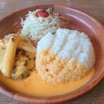 びっくりドンキー - 料理写真:チーズ三昧バーグディッシュ イエロー